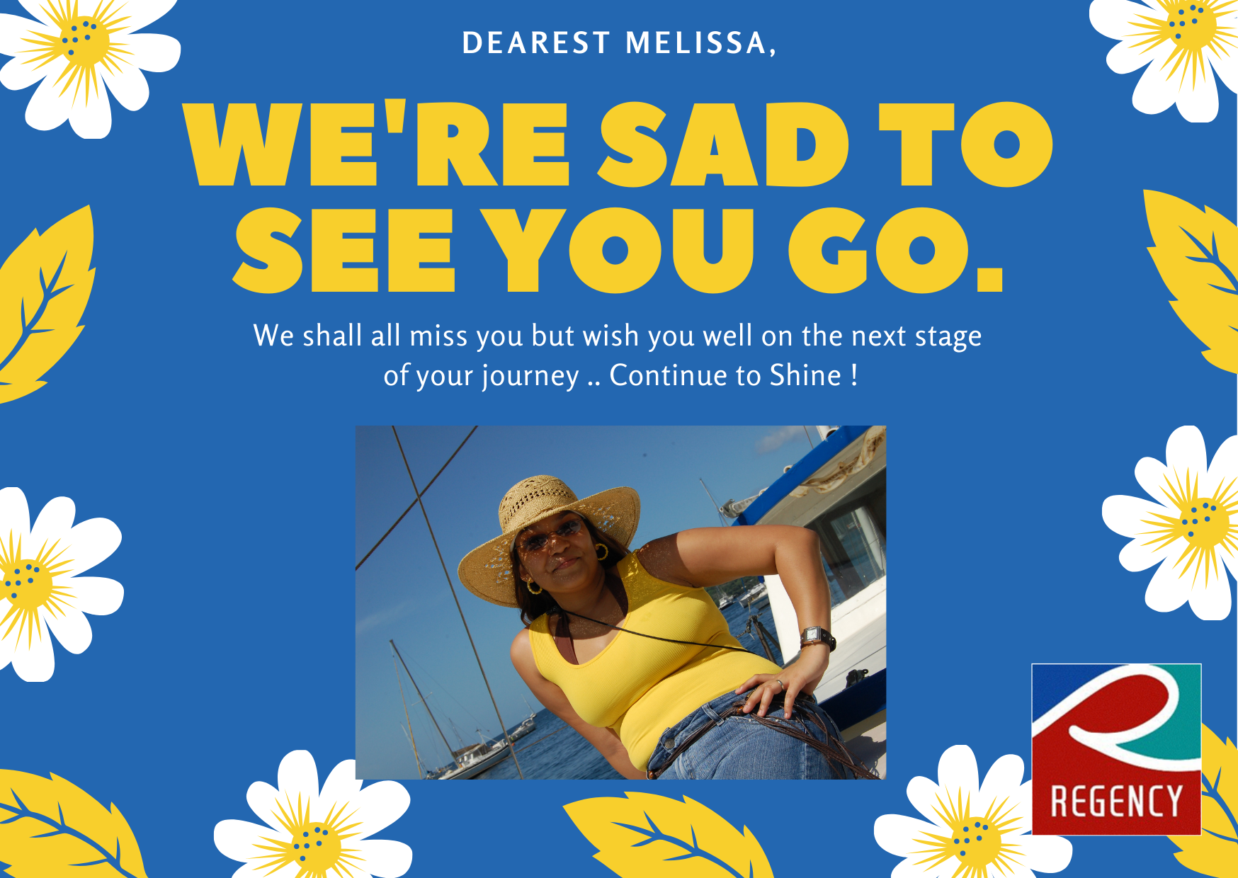 Farewell Melissa July2021